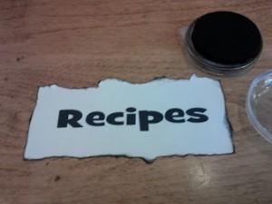 Recipe label
