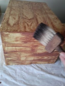 Soften with paint brush