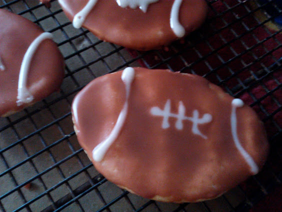 football shaped cookie
