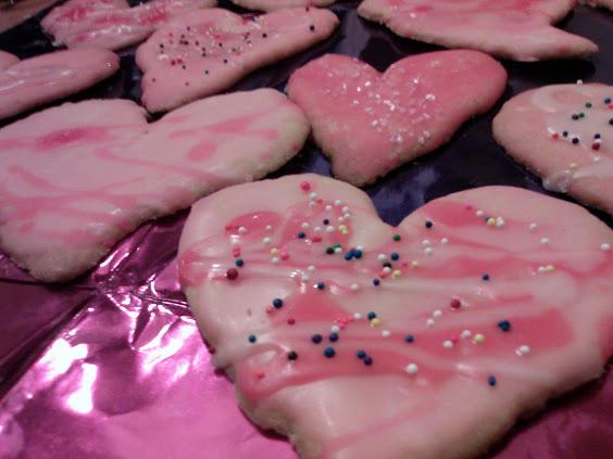 heart shaped sugar cookies