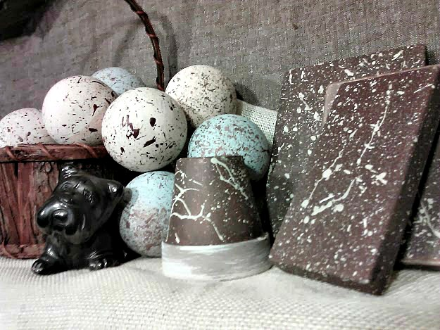 Speckled egg splatter paint texture - How-to-paint-splatter-texture-Stowandtellu