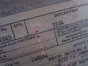 Sears-Roebuck-invoice