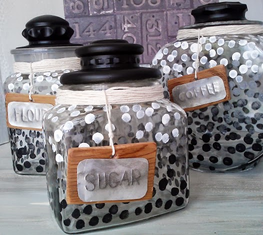 Ombre-dot-Canister-Set