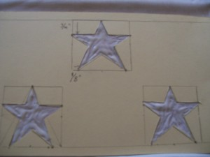 apply glue inside star template