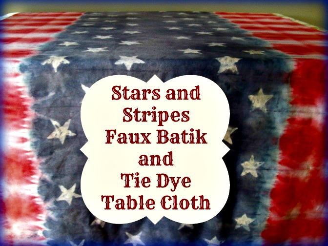 Stars and Stripes Batik Tie Dye Table Cloth