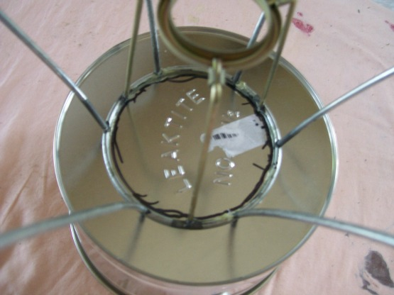 center frame on bottom of bucket
