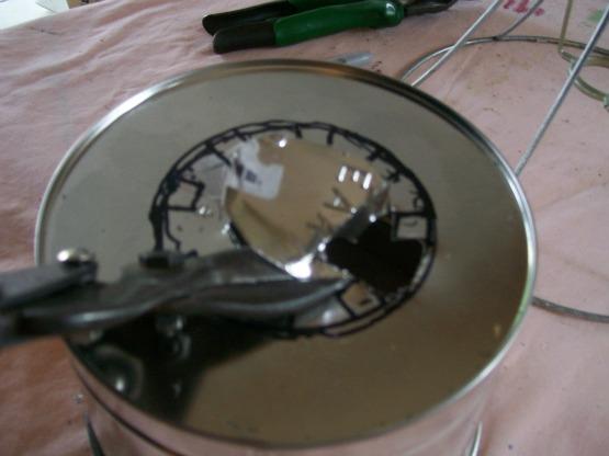 cut with tin snips