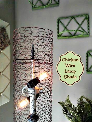 Chicken Wire Lamp Shade - StowandTellU