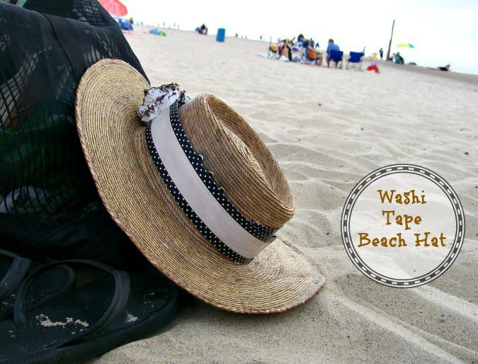DIY Washi tape beach hat-Stowandtellu
