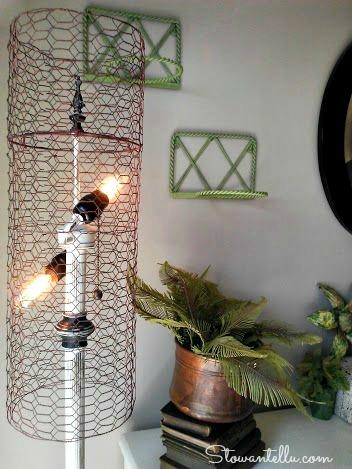 diy chicken wire lamp shade-StowandTellU