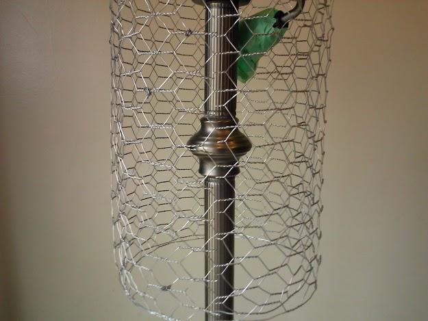 hang on lamp to assure balanced