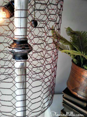 lamp details- Chicken wire lamp shade - Stownadtellu
