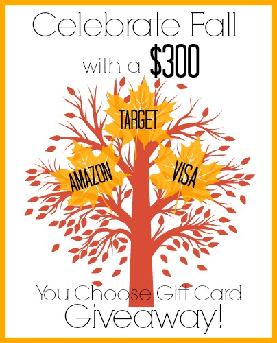 Celebrate Fall $300 Giveaway