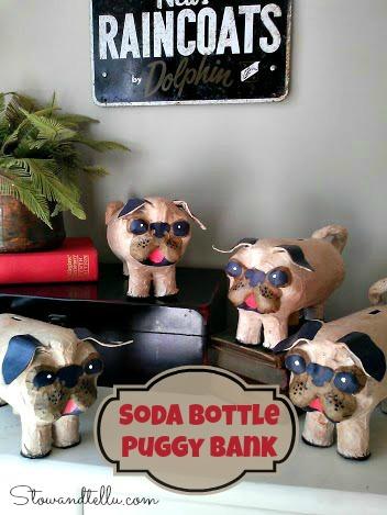 How to make a Plastic Soda Bottle Puggy Bank-StowandTellU