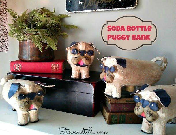 Re-Purposed Plastic Soda Bottle Puggy Bank - StowandTellU