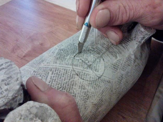 Re-purposed Soda Bottle-Puggy Bank-StowandTellU-cut hole for cork