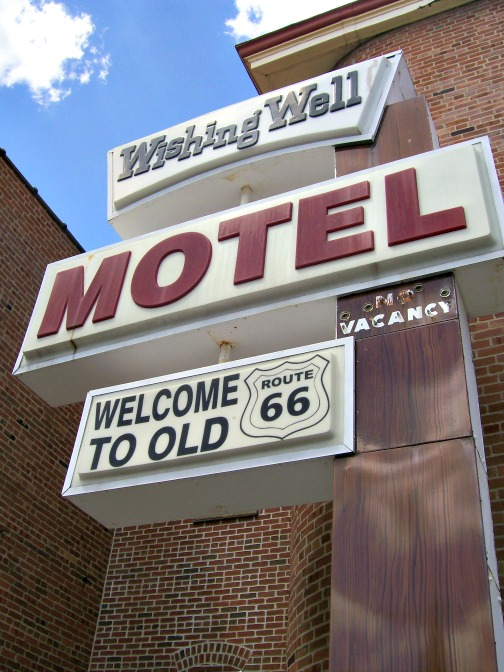 The original Wishing Well Motel marquee