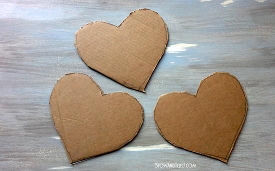 cardboard hearts