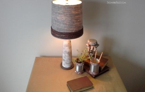 Grapevine wire wrapped lamp shade re-vamp - StowandTellU