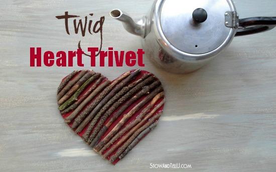 Valentine Twig Heart Trivet-StowandTellU