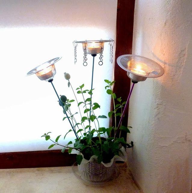 Sink-drain-tea-lights-and-wall-texture-Michlinla.com