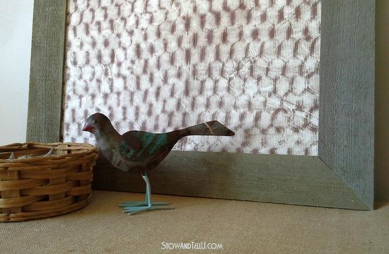 Chicken wire texture rubbed on paper - StowandTellU