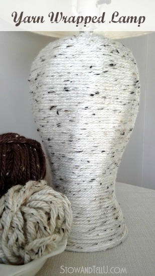 DIY yarn wrapped lamp - StowandTellU