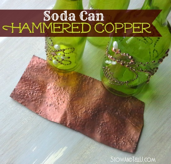 Create-a-faux-hammered-copper-look-with-metallic-paint-and-soda-cans