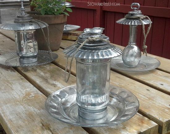 faux-mercury-glass-ornamental-birdfeeders