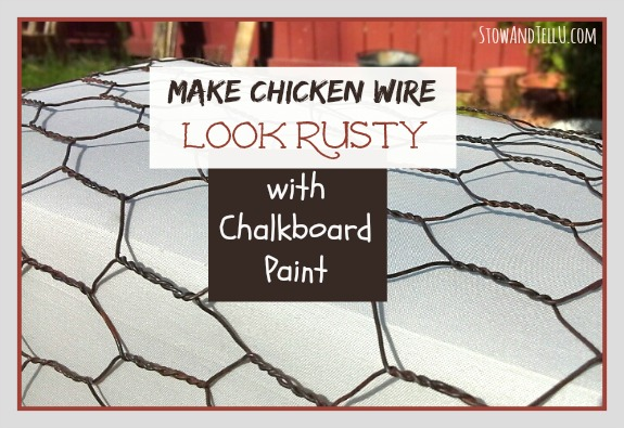 how-to-make-chicken-wire-look-rusty-with-challkboard-paint