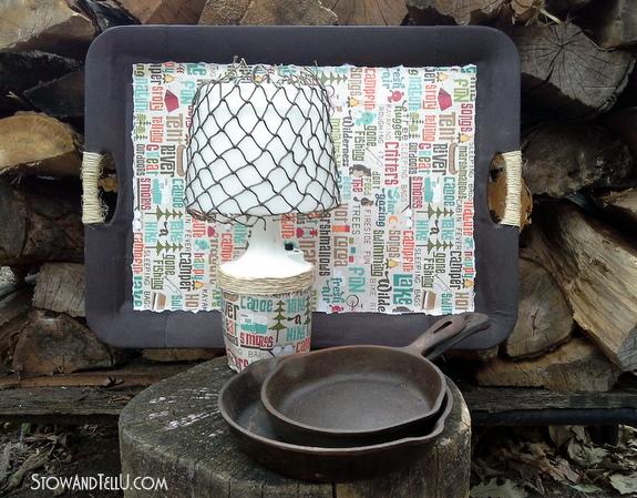 camping-themed-craft-lamp-tray