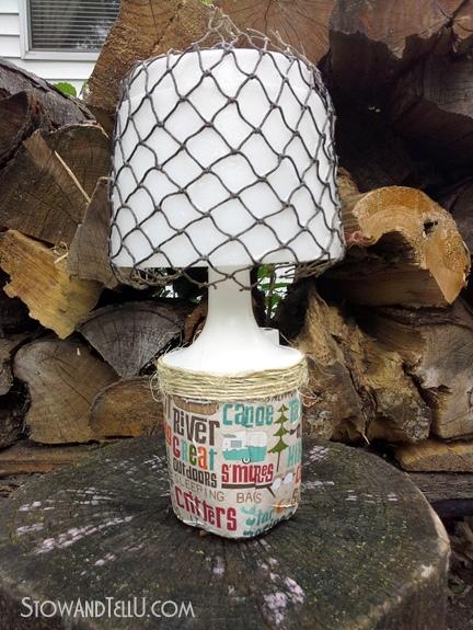 decoupaged-camping-lantern