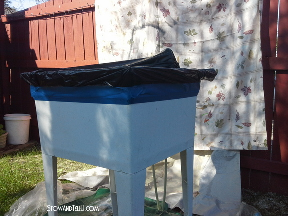 how-to-spray-paint-laundry-tub