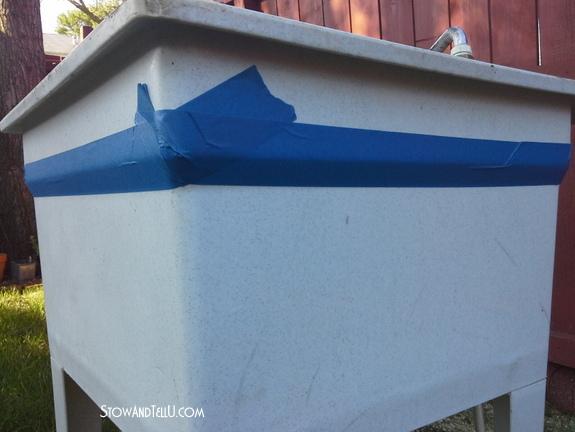 how-to-spray-paint-laundry-tub