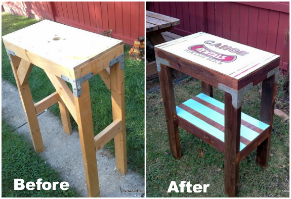 Canoe-rentals-signage-table-before-after