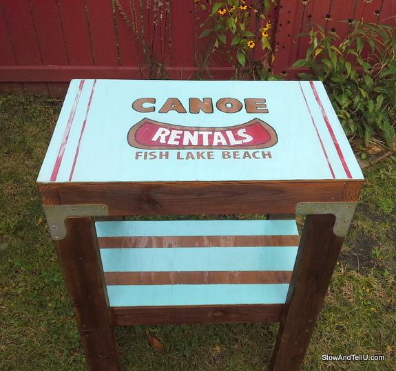 canoe-rental-vintage-sign-table