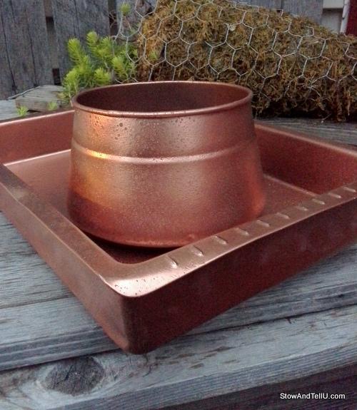 Easy-faux-hammered-copper-paint-technique, StowAndTellU.com